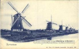 win001013 - Rotterdam, Amsterdam Windmill, Windmills Postcard Postcards
