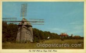 win001023 - Cape Cod, Massachusetts, USA Windmills Postcard Post Cards, Old Vintage Antique