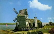 win001024 - Bass river, S. Yarmouth, Cape Cod, Massachusetts, USA Windmills Postcard Post Cards, Old Vintage Antique