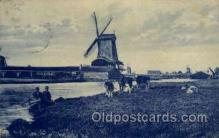 win001025 - Windmills Postcard Post Cards, Old Vintage Antique