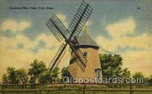 win001031 - Eastham Mill, Cape Cod, Massachusettes, USA Windmills Postcard Post Cards, Old Vintage Antique