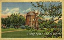 win001039 - Old Mill, Cape Cod, Mass. USA Windmills Postcard Post Cards, Old Vintage Antique