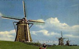 win001045 - Hollandse Molen Windmills Postcard Post Cards, Old Vintage Antique