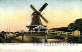 win001046 - Molen Bij Amsterdam Windmills Postcard Post Cards, Old Vintage Antique