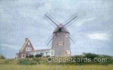 win001050 - Windmill, Brewster, Cape Cod, Massachusetts, USA Windmills Postcard Post Cards, Old Vintage Antique
