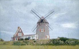 win001050 - Windmill, Brewster, Cape Cod, Massachusetts, USA Windmills Postcard Post Cards, Old Vintage Antique