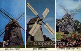 win001058 - Windmill on Cape Cod, Massachusetts, USA Windmills Postcard Post Cards, Old Vintage Antique