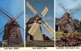 win001059 - Windmill on Cape Cod, Massachusetts, USA Windmills Postcard Post Cards, Old Vintage Antique
