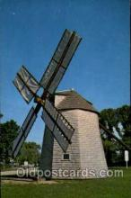 win001066 - Windmill at Orleans, Cape Cod, Massachusetts, USA Windmills Postcard Post Cards, Old Vintage Antique
