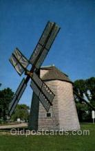 win001072 - Windmill at Orleans, Cape Cod, Massachusetts, USA Windmills Postcard Post Cards, Old Vintage Antique