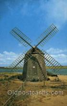 win001073 - Old windmill at Bass River, Cape Cod, Massachusetts, USA Windmills Postcard Post Cards, Old Vintage Antique