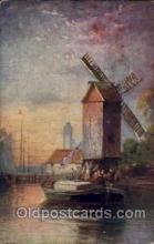 win001078 - Windmills Postcard Post Cards, Old Vintage Antique