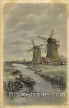 win001079 - Windmills Postcard Post Cards, Old Vintage Antique