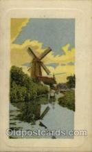 win001088 - Windmills Postcard Post Cards, Old Vintage Antique