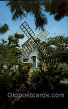 win001094 - Windmill House, Cape Cod, Massachusetts, USA Windmills Postcard Post Cards, Old Vintage Antique