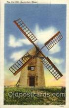 win001097 - The Old Mill, Nantucket, Massachusetts, USA Windmills Postcard Post Cards, Old Vintage Antique