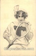 wis001002 - Tennis Woman in Sports Postcard Postcards