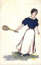 wis001005 - Tennis Woman in Sports Postcard Postcards