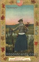wis001008 - Hunting Woman in Sports Postcard Postcards