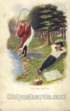 wis001031 - Fishing Woman in Sports Postcard Postcards