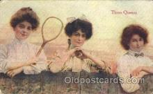 wis001046 - Three Queens Tennis Woman in Sports Postcard Postcards