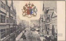 wod001008 - Fastgate Street Chester, wood wooden, Postcard Postcards