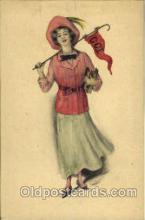 wom001024 - Gibson Art, Woman Postcard Postcards