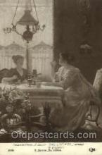 wom001114 - E. Deully Woman Postcard Postcards