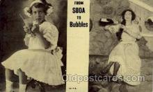 wom001125 - From Soda to Bubbles Woman Postcard Postcards
