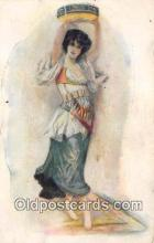 wom001376 - Dancing Girl of Tyral  Postcard Post Card
