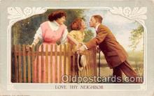 wom001398 - Love Thy Neighbor  Postcard Post Card