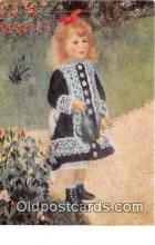 wom001416 - Girl with a Watering Can By Renoir 1841-1919 Postcard Post Card
