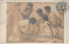 wom001464 - Salon De Paris Joueuses D'Osselets Postcard Post Card
