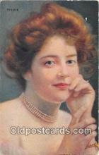 wom001510 - Pensive  Postcard Post Card