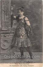 wom001523 - Theatrical, Miss Marie Buschart Continental Lady Fasting Champion Postcard Post Card