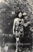 wom001537 - Lady Surrounded by Tropical Plants Guam USA Postcard Post Card