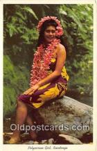 wom001586 - Polynesian Girl Raratanga Postcard Post Card