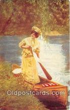 wom001642 - Canoeing  Postcard Post Card