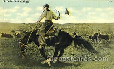 Cowboy Riding Bronco