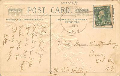 xms001521 - Christmas Post Card Old Vintage Antique Xmas Postcard  back