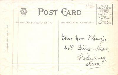 xms001537 - Christmas Post Card Old Vintage Antique Xmas Postcard  back