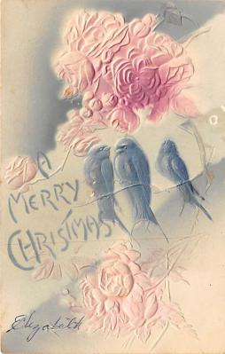 xms001553 - Christmas Post Card Old Vintage Antique Xmas Postcard