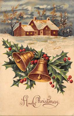 xms001573 - Christmas Post Card Old Vintage Antique Xmas Postcard