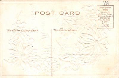 xms001665 - Christmas Post Card Old Vintage Antique Xmas Postcard  back