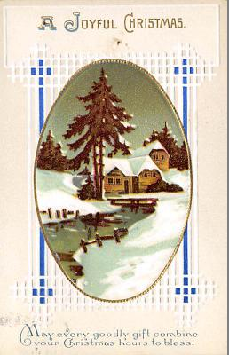 xms001761 - Christmas Post Card Old Vintage Antique Xmas Postcard