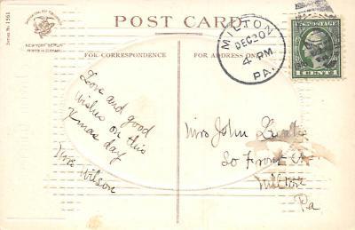xms001761 - Christmas Post Card Old Vintage Antique Xmas Postcard  back