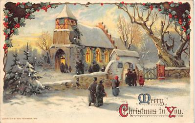 xms001781 - Christmas Post Card Old Vintage Antique Xmas Postcard