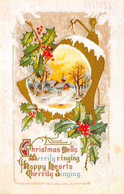 xms001875 - Christmas Post Card Old Vintage Antique Xmas Postcard