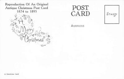xms001875 - Christmas Post Card Old Vintage Antique Xmas Postcard  back