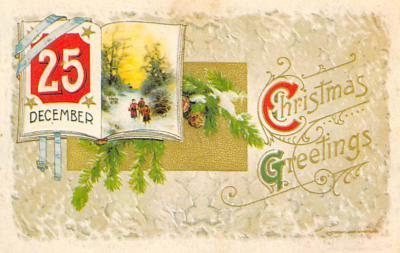 xms001879 - Christmas Post Card Old Vintage Antique Xmas Postcard
